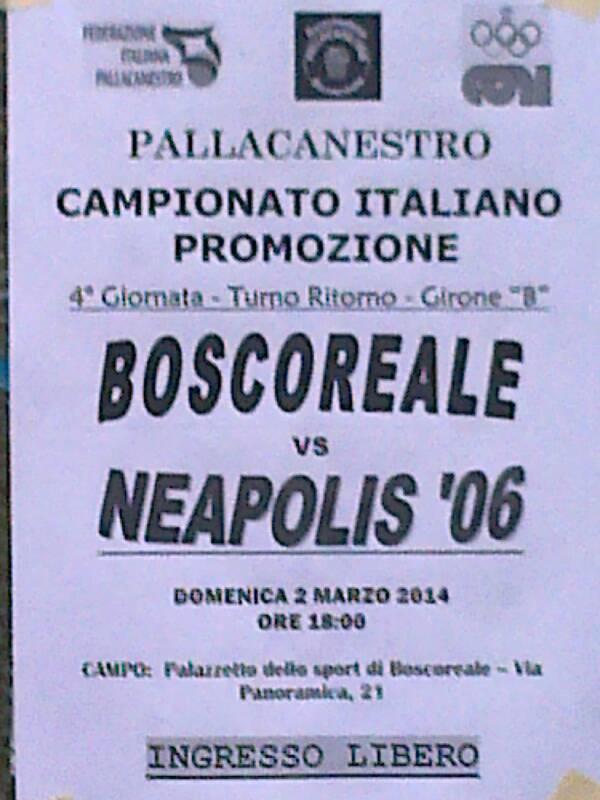 PROMOZIONE CAMPANIA, Live: Virtus Neapolis - Boscoreale