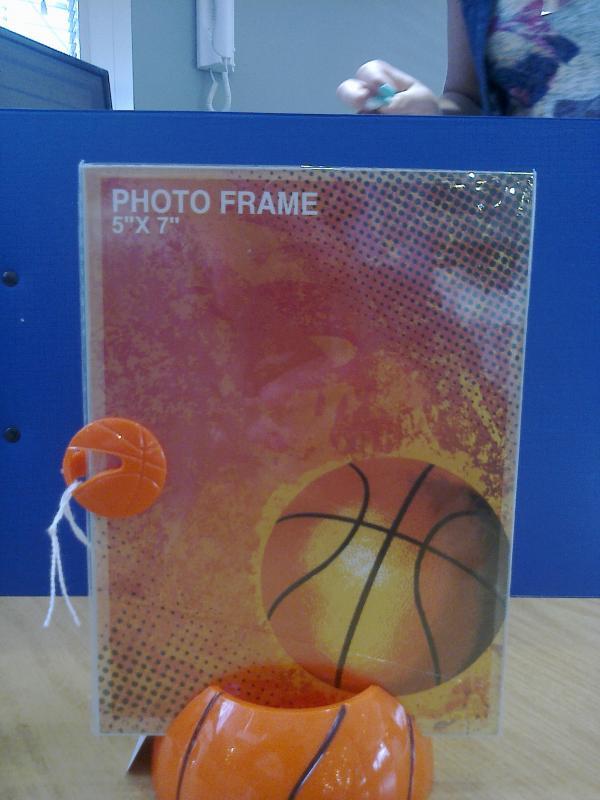 Bomboniera portafoto pallone da basket