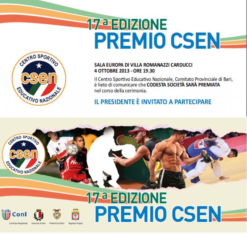 17° Edizione  Premio CSEN