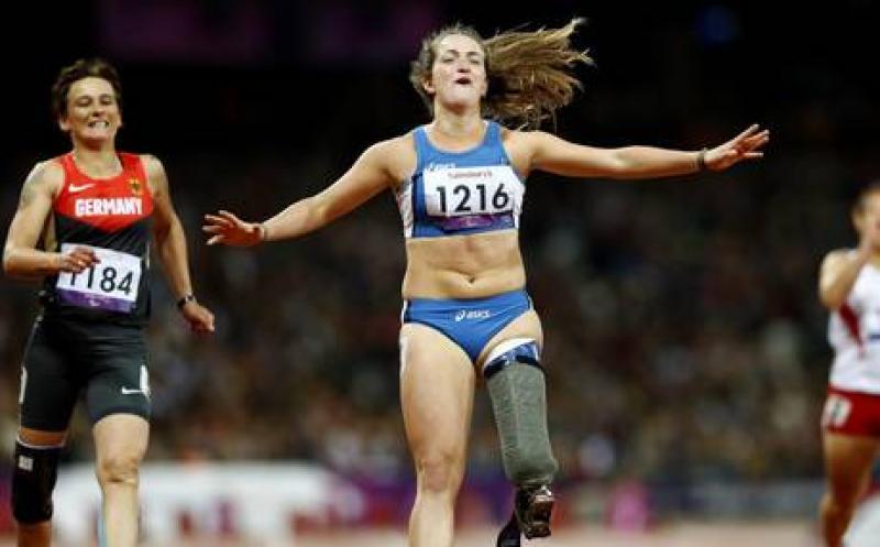 Campionessa paralimpiadi scala Vajolet Oro nei 100 metri con protesi gamba…
