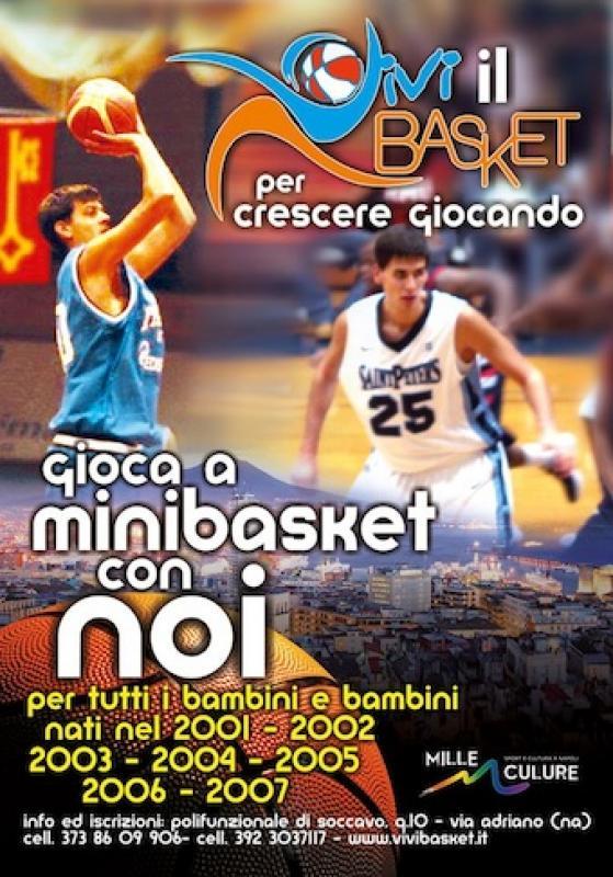 VIVI il BASKET per crescere giocando, gioca a Mini Basket con noi